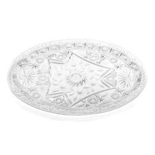 "TableCraft 999C 20"" Clear Crystalware Oval Tray"