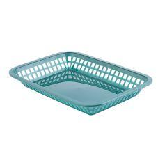 TableCraft® 1077FG Forest Green Grande Platter Basket - Dozen