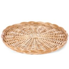 "Willow Specialties 89161.16 16"" Round Willow Tray Basket"