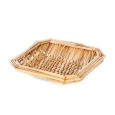 "Willow Specialties 6"" Square Wheat Straw Basket"