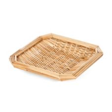 "Willow Specialties 8"" Square Wheat Straw Basket"