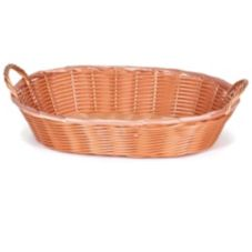 "Willow Specialties 14"" x 11"" Oval Basket With Handles"