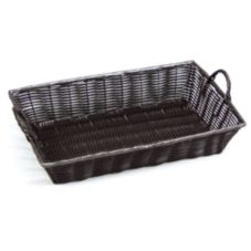 "Willow Specialties 4151.18BK 18"" x 12"" Black Basket With Handles"