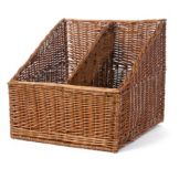"Willow Specialties 83209 21"" x 22-1/2"" 2-Comp. Display Basket"
