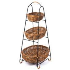 Skalny Baskets 9009 3-Tier Rattan Basket Display