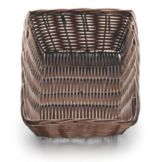 "TableCraft 1472 9"" x 6"" Brown Woven Plastic Basket - Dozen"