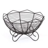 "Willow Specialties 823063 12"" Round Wire Footed Bowl"