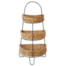 Eco Displayware MDC1990NRL Rattan 3-Tier Display Stand