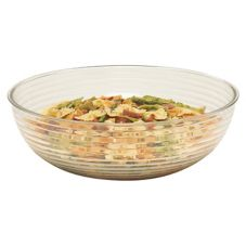 Cambro® RSB15CW135 Camwear® Clear 11.2 Qt. Round Ribbed Bowl