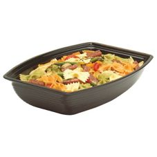 Camwear® RSB1014CW110 Rectangular Black 5 Qt. Ribbed Bowl