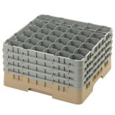Cambro 36S900184 Camrack Beige Full Size 36-Compartment Glass Rack