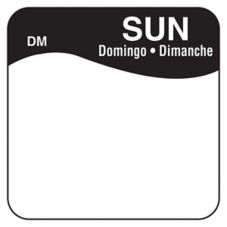 "DayMark 1100727 DissolveMark Blank 1"" Sunday Day Square - 500 / RL"