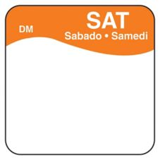 "DayMark DissolveMark™ Blank 1"" Saturday Day Square"