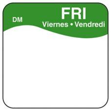 "DayMark 1100725 DissolveMark Blank 1"" Friday Day Square - 500 / RL"