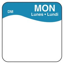 "DayMark 1100721 DissolveMark Blank 1"" Monday Day Square - 500 / RL"