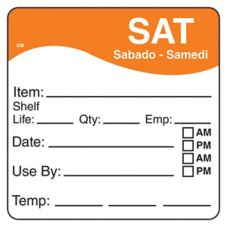 "DayMark 1100626 DissolveMark 2.5"" Saturday Day Square - 125 / RL"