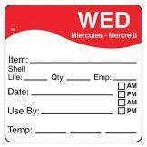 """DayMark 1100623 DissolveMark 2.5"""" Wednesday Day Square - 125 / RL"""