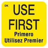 "DayMark DuraMark™ Square 1"" Use First Label"
