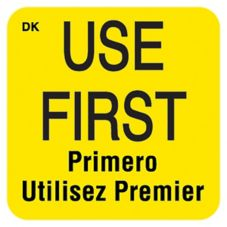 "DayMark 110083 DuraMark™ Square 1"" Use First Label - 1000 / RL"