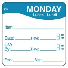 "DayMark DissolveMark™ 2"" Monday Use By Day Square"