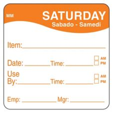 "DayMark 1100356 MoveMark 2"" Saturday Use By Day Square - 500 / RL"