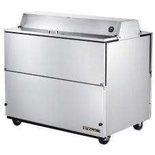 True® Dual Side S/S 20.9 Cu Ft Milk Cooler w/ Aluminum Interior