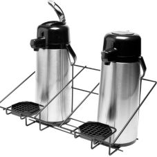 Service Ideas APR2BLC Black Steel Wire 2 Airpot Rack