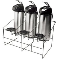 Service Ideas APR3BLC Black Steel Wire 3 Airpot Rack