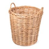 "Willow Specialties 80181.20SQ 20-1/2"" Round Willow Bin With Handles"