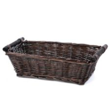 "Willow Specialties 87732 14-3/4"" x 8-3/4"" Brown Willow Basket"