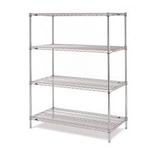 "Metro® EZ2460NC-4 24 x 60"" Chrome Convenience Pak™ Unit"