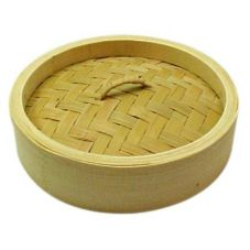 "Kamei Rest. Supply 0055TL Bamboo 5"" Steamer Lid"