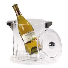 Carlisle® IG24507 4.5 Qt. Clear Acrylic Ice Bucket with Handles