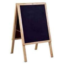 A-Frame Menu Board, Oak, Blank Chalkboard Both Sides