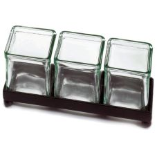 Cal-Mil 1805-2-13 Black Frame 3 Unit Coffee Amenities Squared Holder
