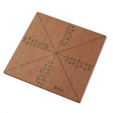 American Metalcraft MPCUT4 4 or 8 Slice Pizza Cutting Guide Board
