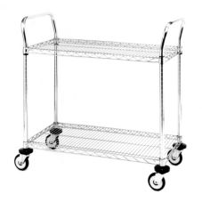 "Metro® Chrome 18 x 30"" MW600 Series Std. Duty Utility Cart"