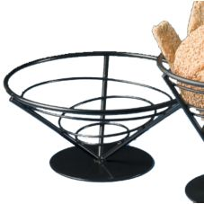 "American Metalcraft Black Wrought Iron 9 x 4"" Bread Basket"