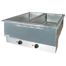 APW Wyott HFWAT-2 Top-Mount Electric 2-Pan Drop-In Hot Food Well Unit