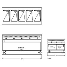 "Randell® RAN HTD-5S 72"" Open Cabinet Base Hot Food Table"