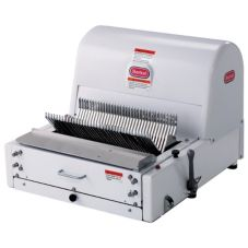 "Berkel MB-3/8 Painted White 3/8"" Bread Slicer With 4"" Extension Legs"