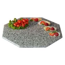 "Gourmet Display® SS151 15"" Gray Octagon Serving Stone Tray"