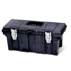 "Rubbermaid Black Professional-Grade Lockable 26"" Tool Box"