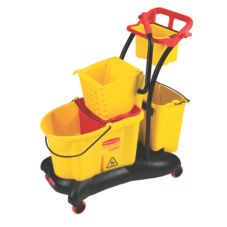 Rubbermaid WaveBrake® Yellow 35 Qt Side Press Mop System Trolley