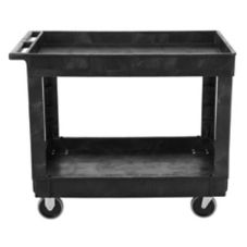 Rubbermaid® FG9T6700BLA Black 2-Shelf Utility Cart