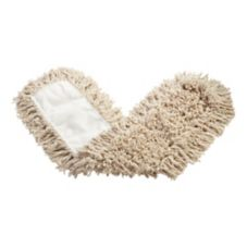 "Rubbermaid White Twisted Loop Cotton 36"" Dust Mop"