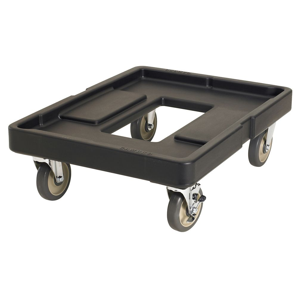 Cambro CD400110 Camdollies Black 300 Lb. Dolly for Camcarriers