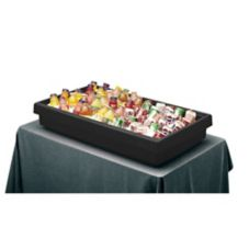 "Cambro® BUF48110 Black 3-Pan 41-13/16"" x 24"" Tabletop Buffet Bar"
