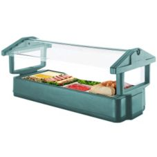 Cambro® 5FBRTT192 Granite Green 4-Pan 5' Tabletop Food Bar