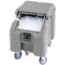 Cambro ICS100L180 Light Gray Standard SlidingLid Ice Caddy 100 lbs